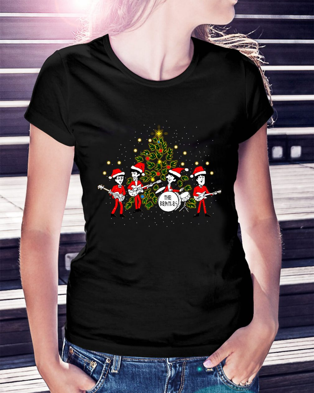 The Beatles Christmas Records Ladies Tee