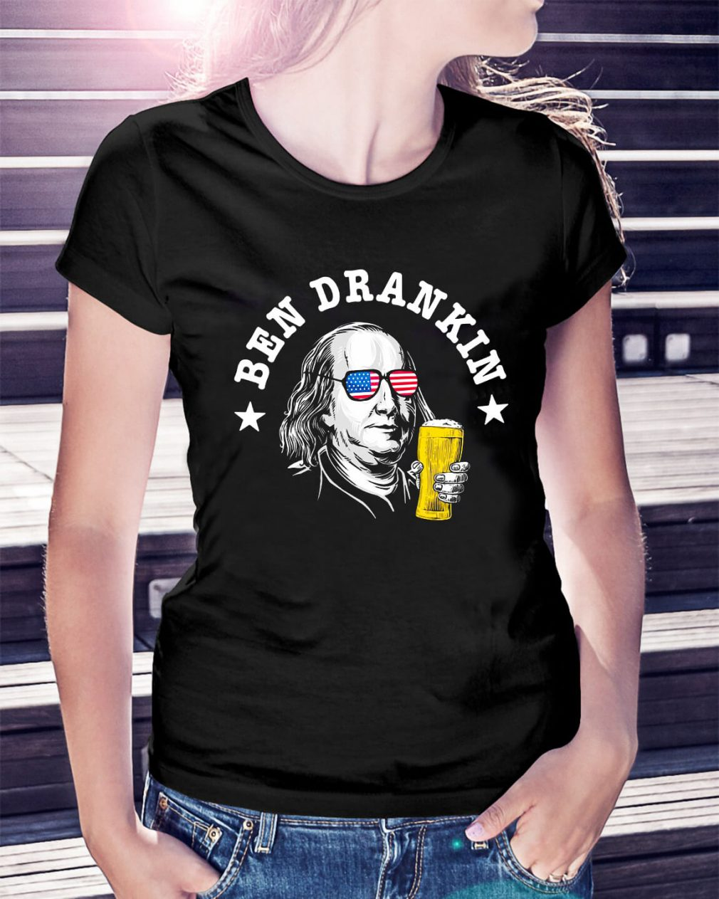 Ben Drankin 4th of July Ladies Tee
