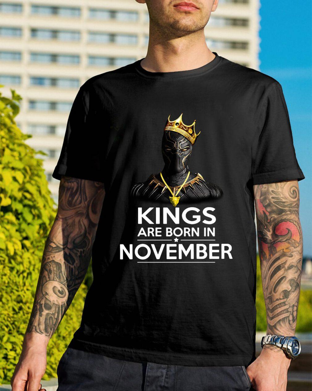 Black Panther Kings are born November shirt