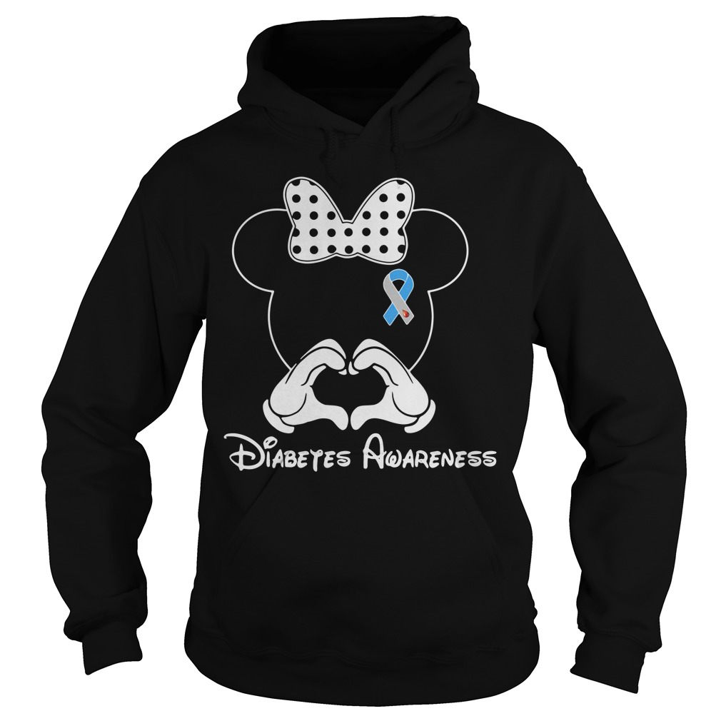 Breast cancer Mickey Mouse Diabetes Awareness Hoodie