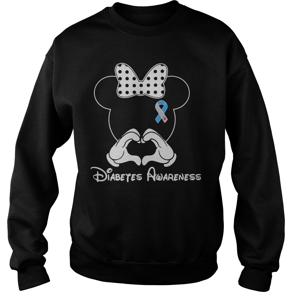 Breast cancer Mickey Mouse Diabetes Awareness Sweater