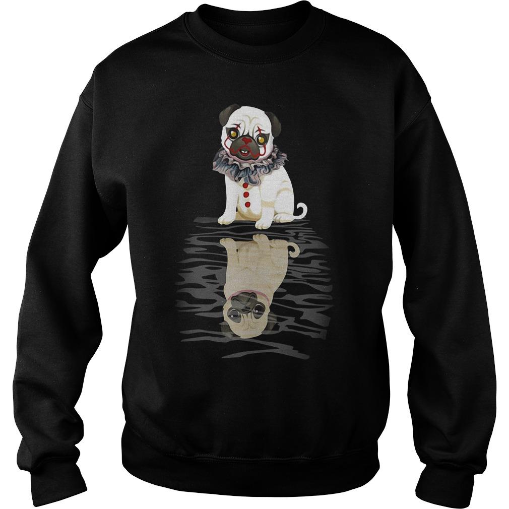 Bulldog IT Clown Halloween Sweater