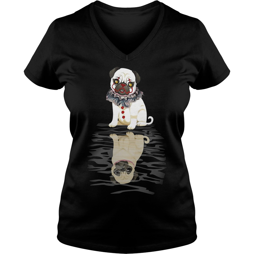 Bulldog IT Clown Halloween V-neck T-shirt