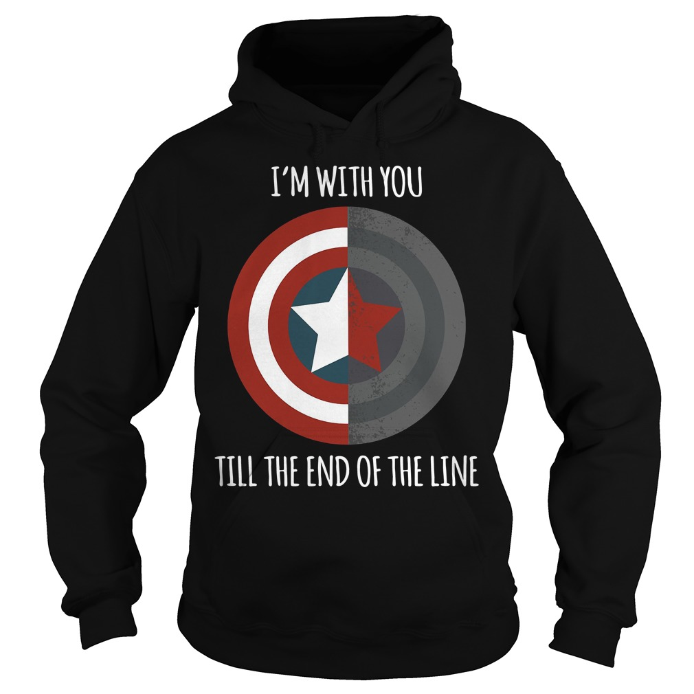 Captain America I'm with you till the end of the line Hoodie