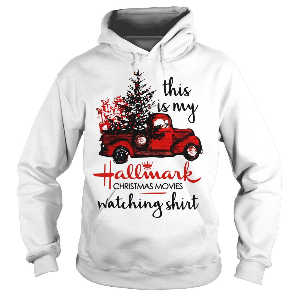 Car red this is my Hallmark Christmas movie watching Hoodie