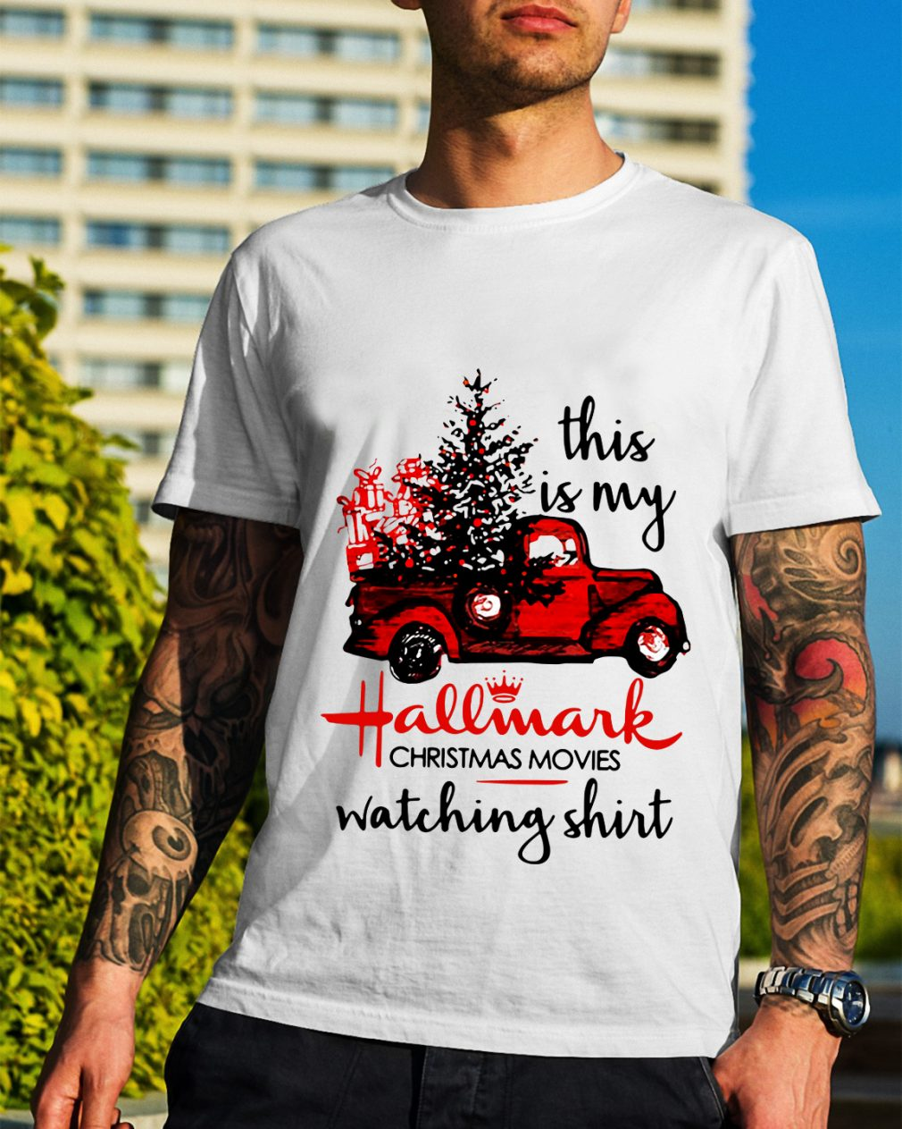 Car red this is my Hallmark Christmas movie watching shirt