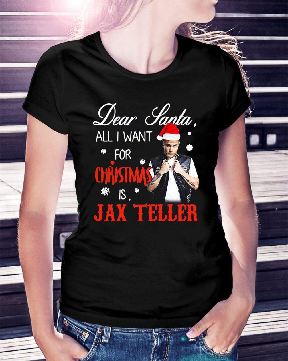 Charlie Hunnam - Dear Santa all I want for Christmas Ladies Tee