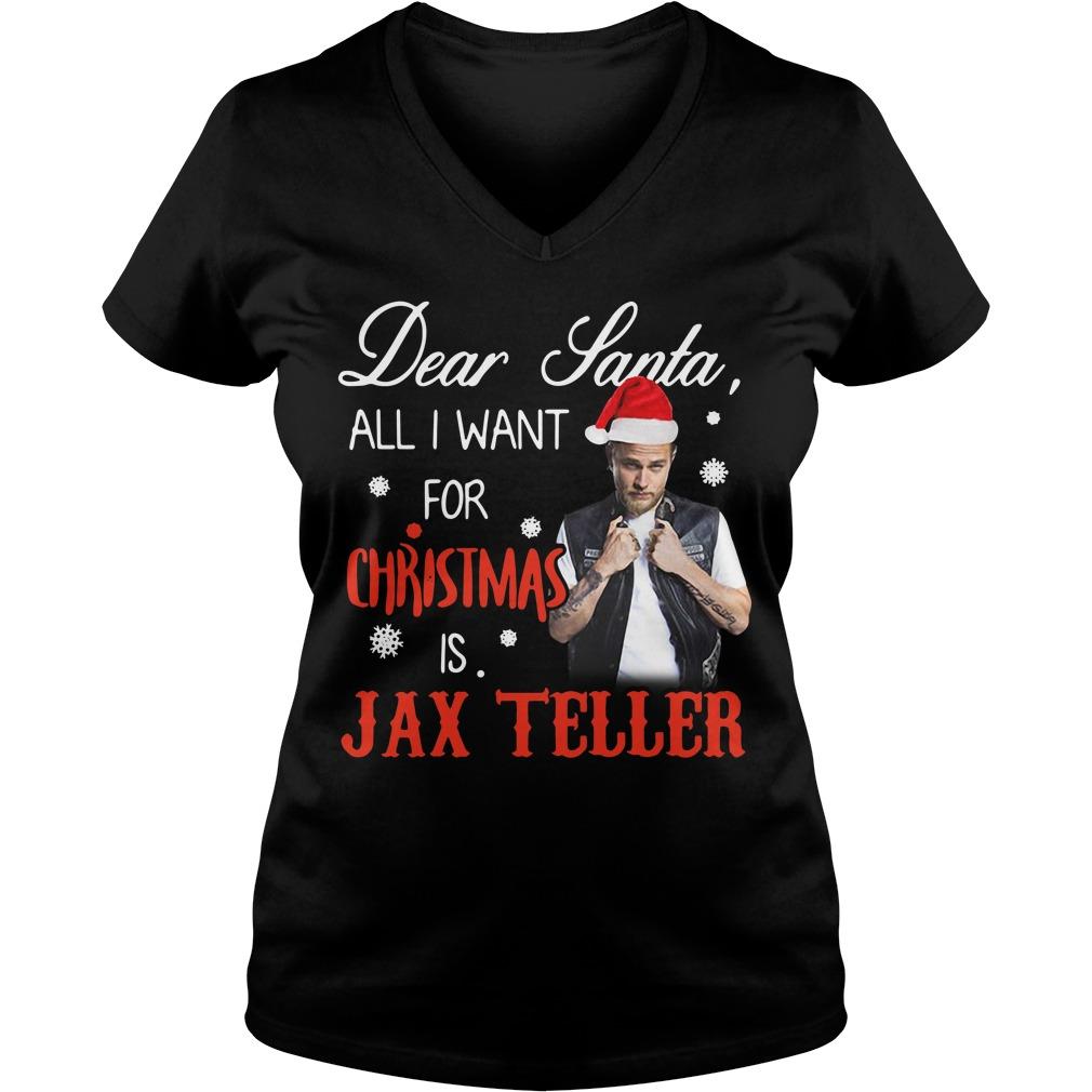 Charlie Hunnam - Dear Santa all I want for Christmas V-neck T-shirt