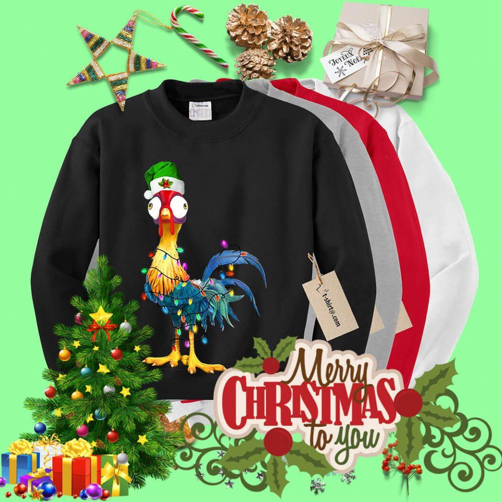 Chicken Hei Hei light Christmas shirt, sweater
