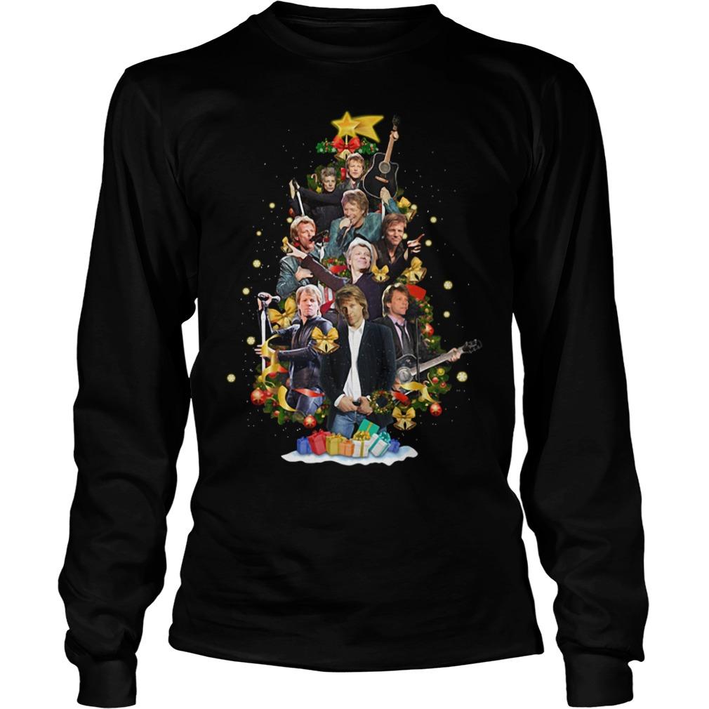 Christmas Jon Bon Jovi Christmas tree Longsleeve Tee