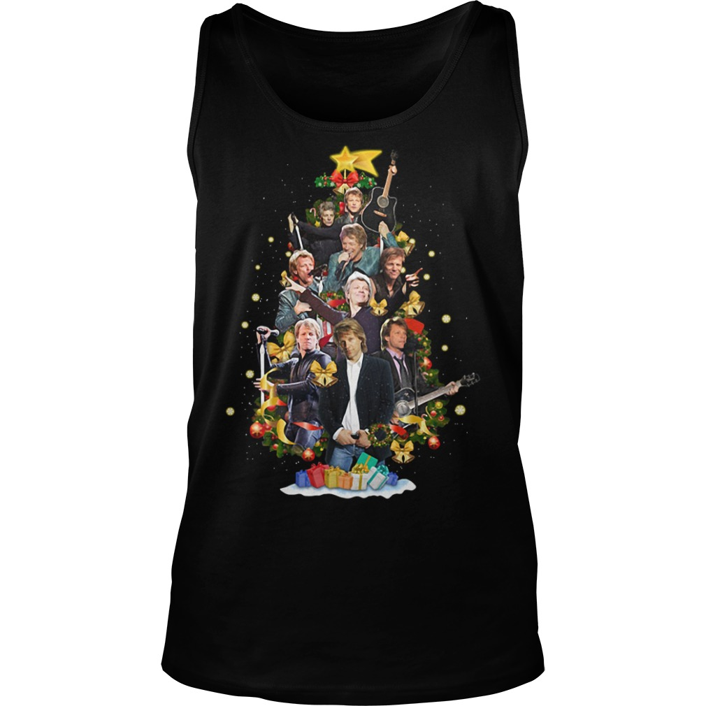 Christmas Jon Bon Jovi Christmas tree Tank Top