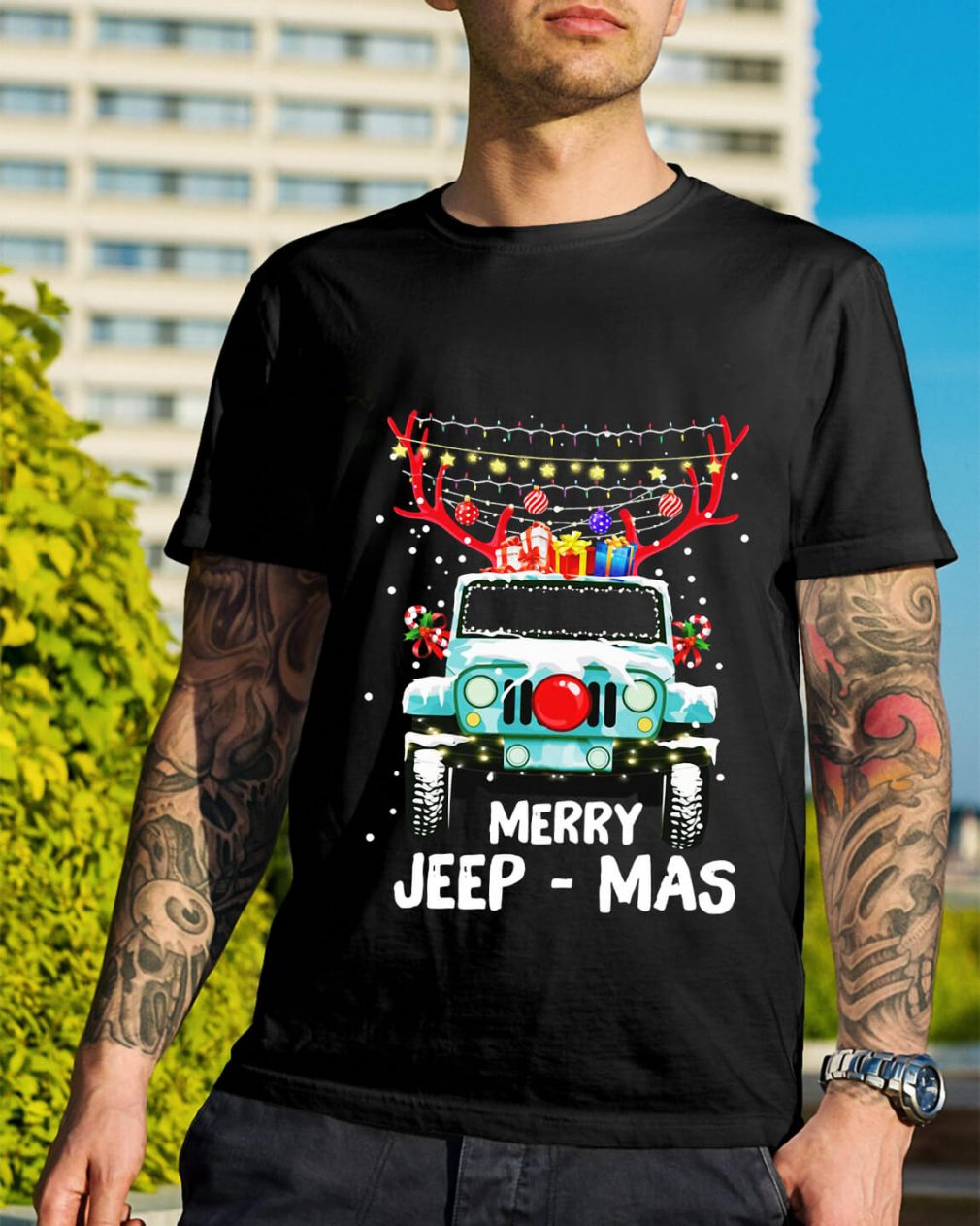 Christmas Merry Jeep-Mas shirt