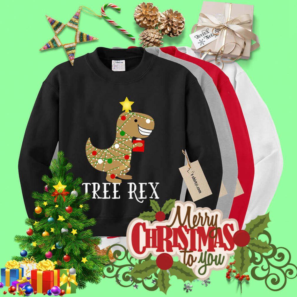 Christmas tree rex shirt, sweater