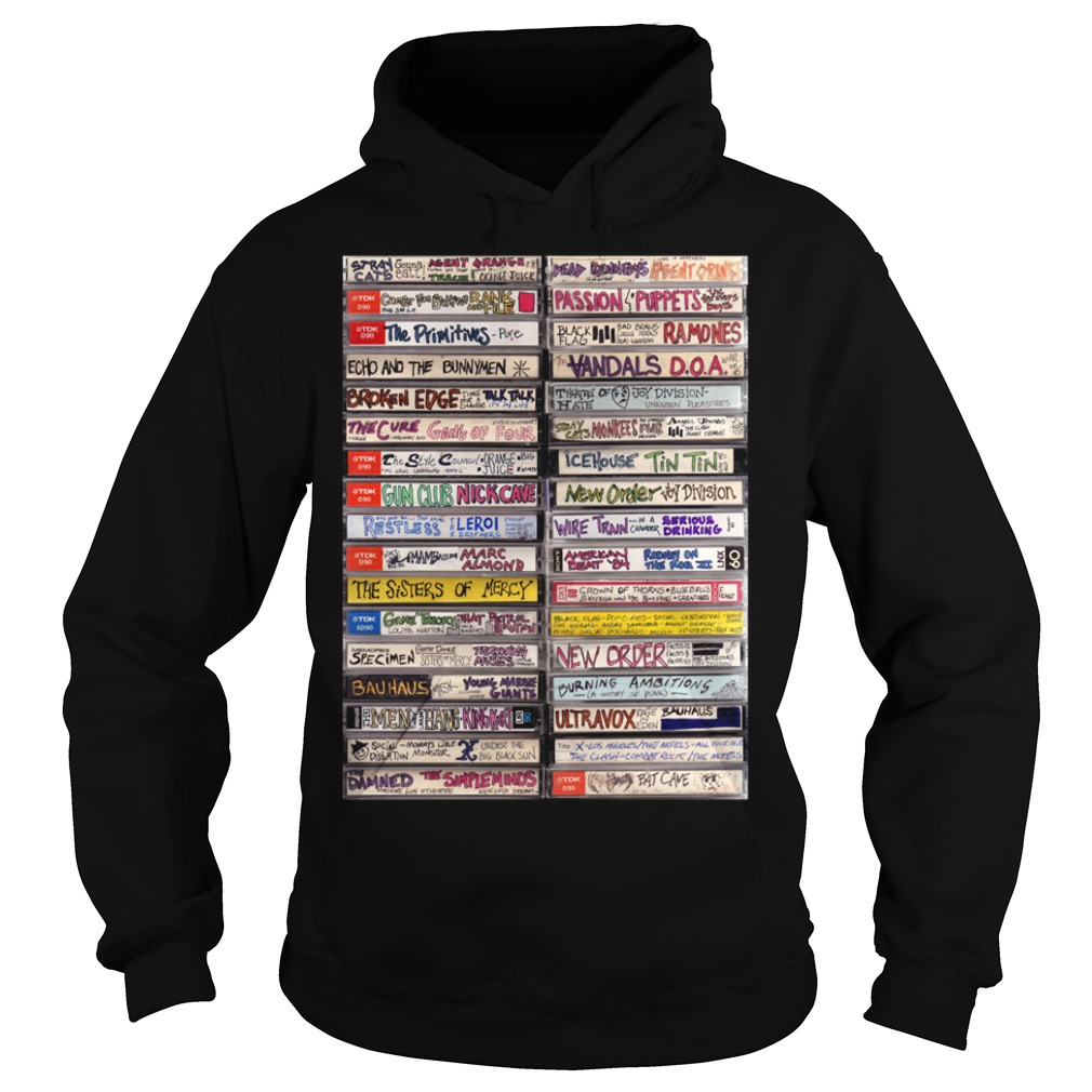 Classic hip hop cassette tapes 1980s Hoodie