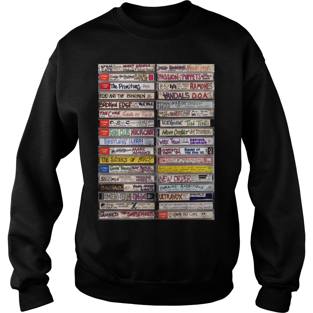 Classic hip hop cassette tapes 1980s Sweater