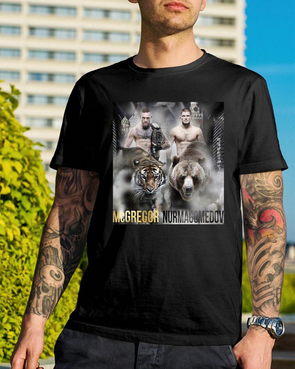 Conor Mcgregor vs Khabib Nurmagomedov shirt
