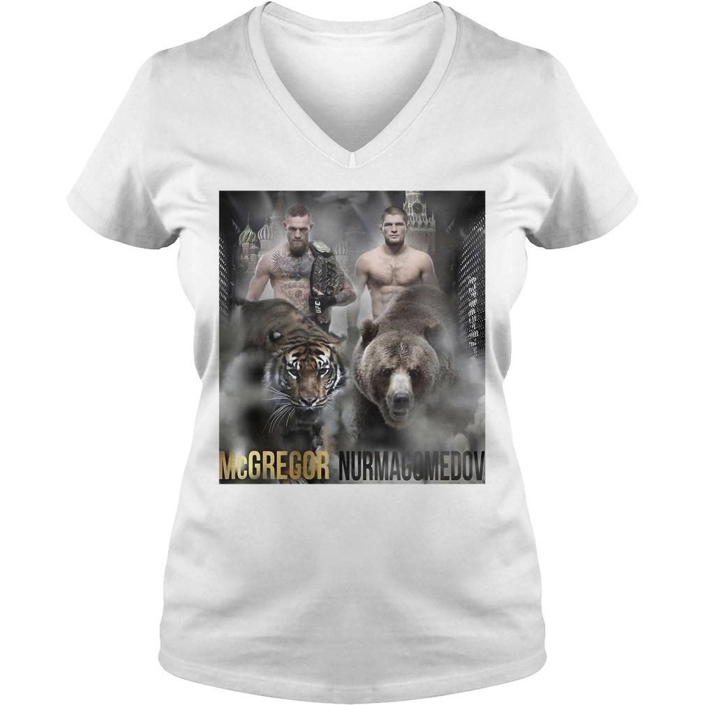 Conor Mcgregor vs Khabib Nurmagomedov V-neck T-shirt