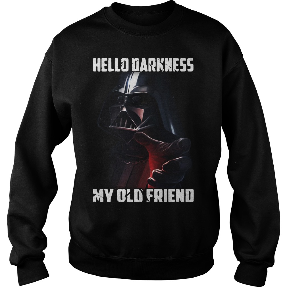 Darth Vader Star Wars hello Darkness my old friend Sweater