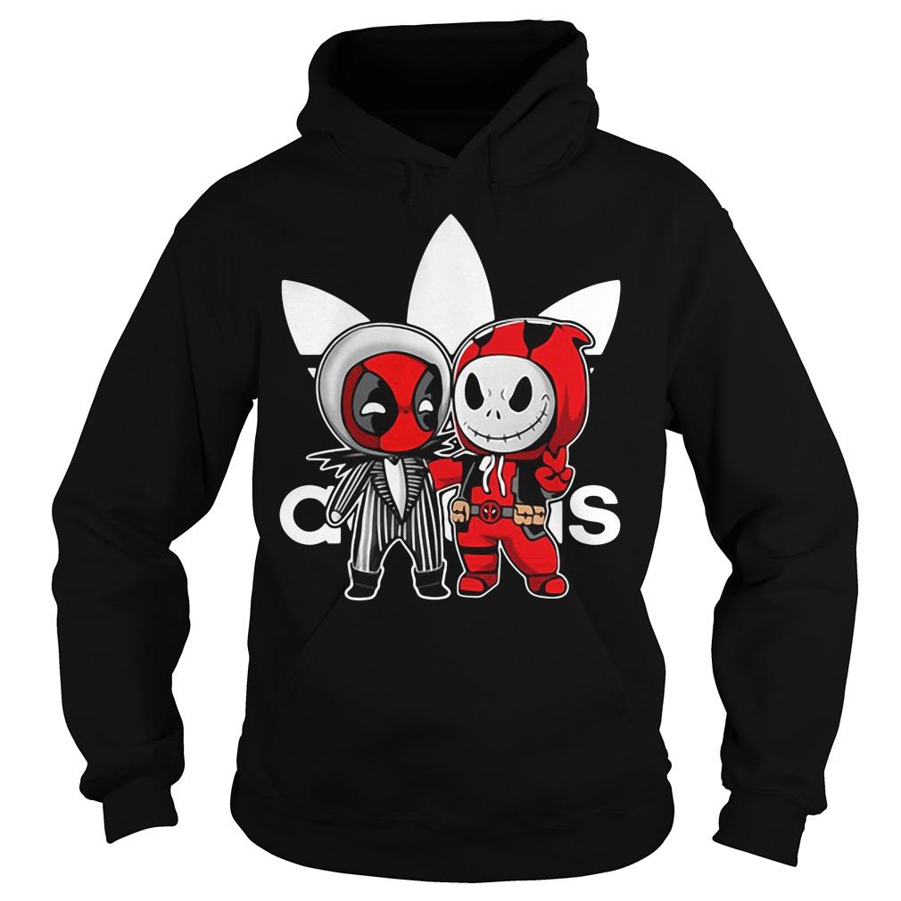 Deadpool and Jack Skellington Adidas Hoodie