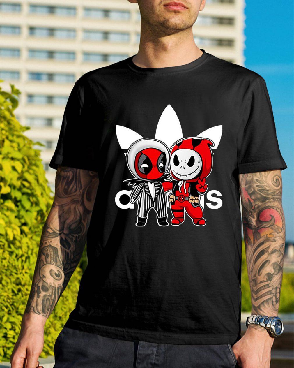 Deadpool and Jack Skellington Adidas shirt
