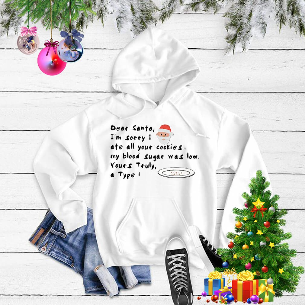 Dear Santa I'm sorry I ate all your cookies my blood sugar Hoodie