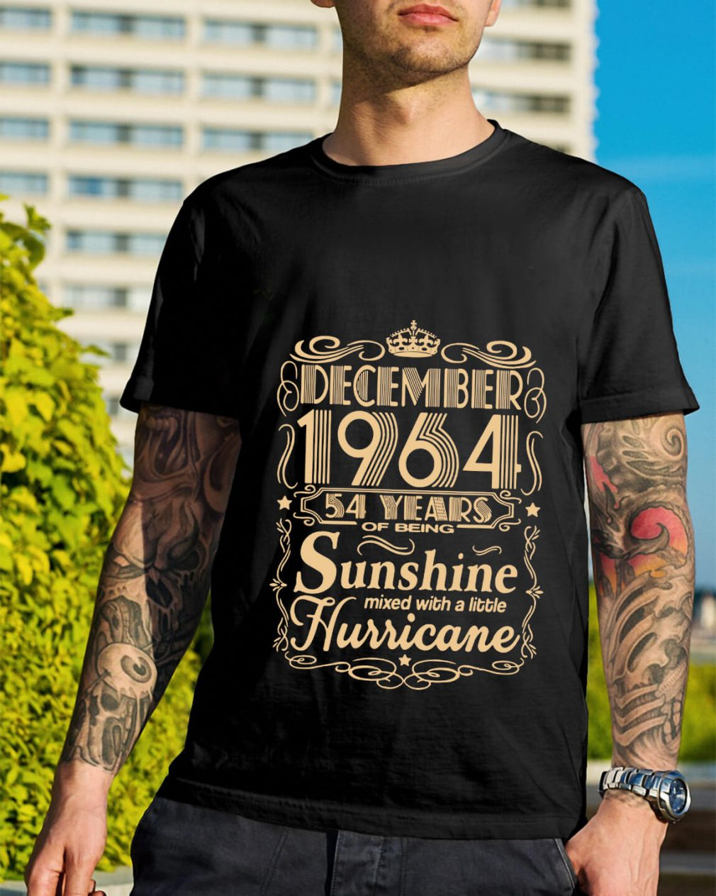 December 1964 54 years of being sunshine mixed shirt
