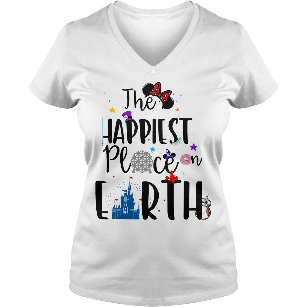 Disneyland Disney the happiest place on earth V-neck T-shirt
