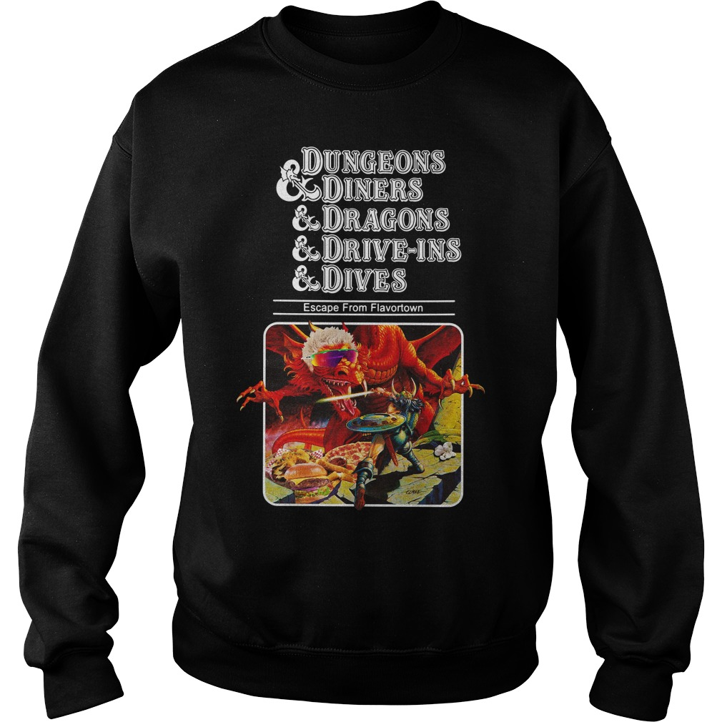 Dungeons and diners and dragons and drive-ins and dives Sweater