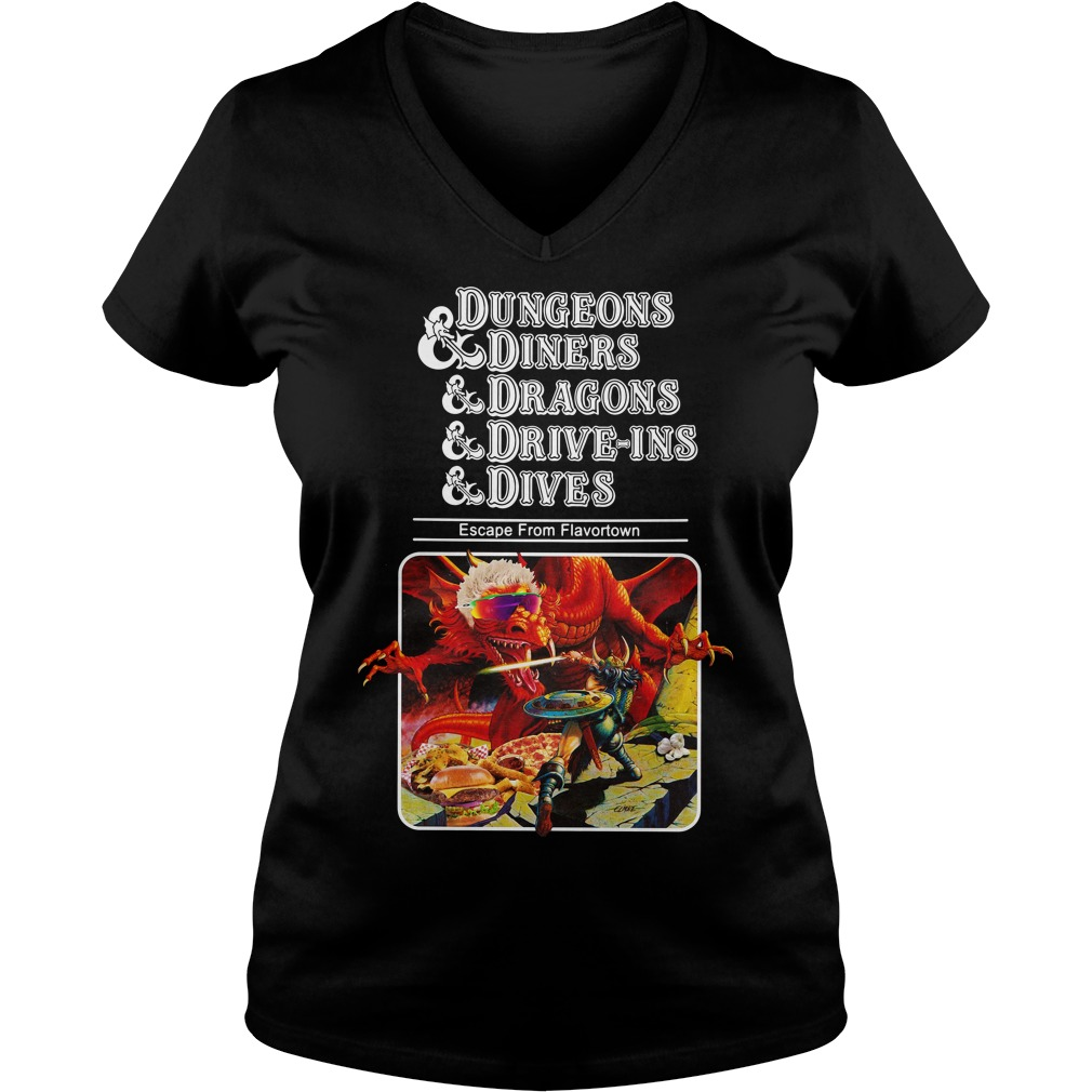 Dungeons and diners and dragons and drive-ins and dives V-neck T-shirt