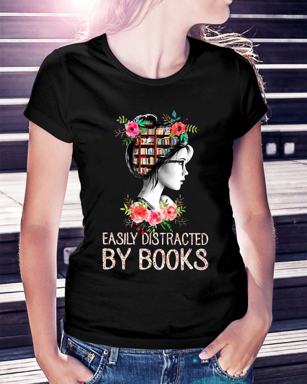 Easily distracted by books shirt