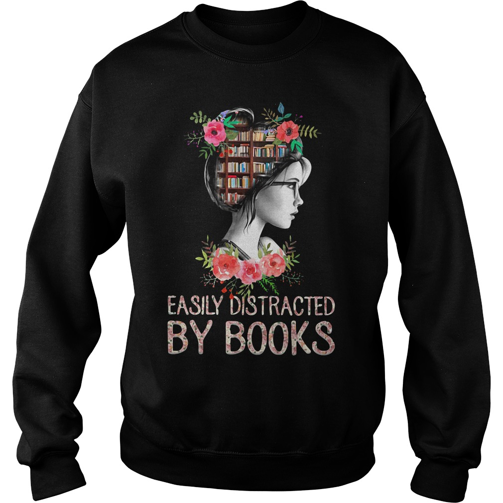 Easily distracted by books Sweater