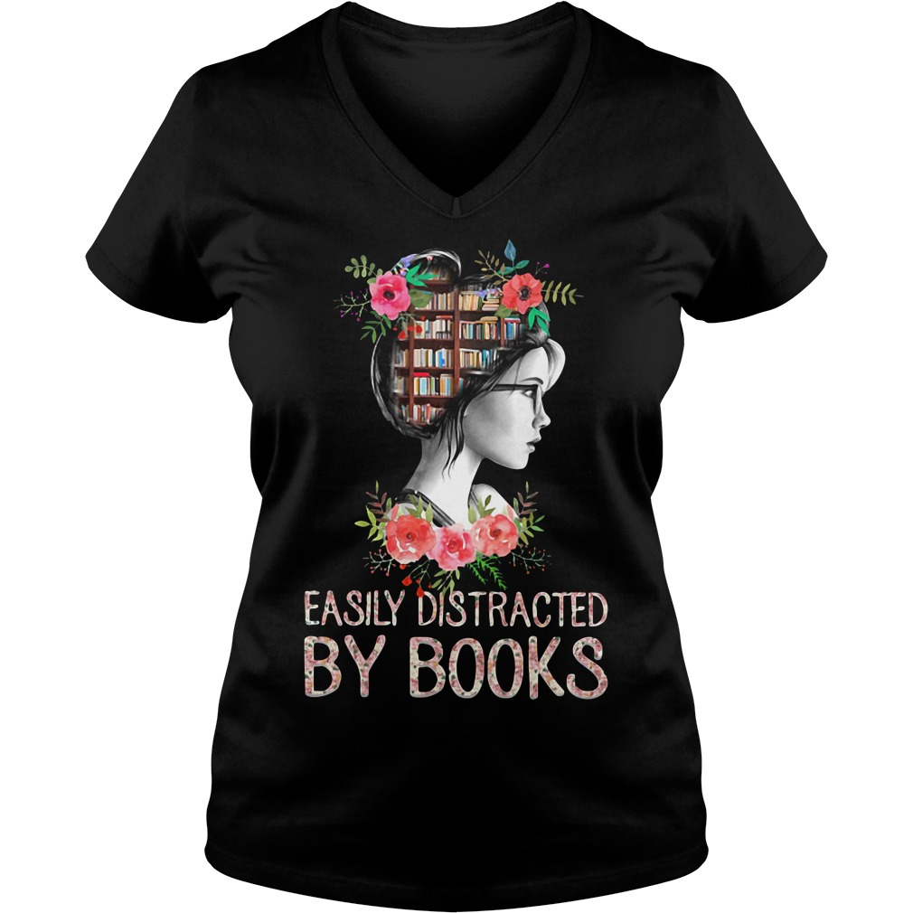 Easily distracted by books V-neck T-shirt