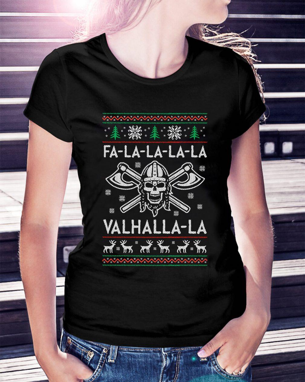 Fa-la-la-la-la Valhalla-la Christmas Ladies Tee