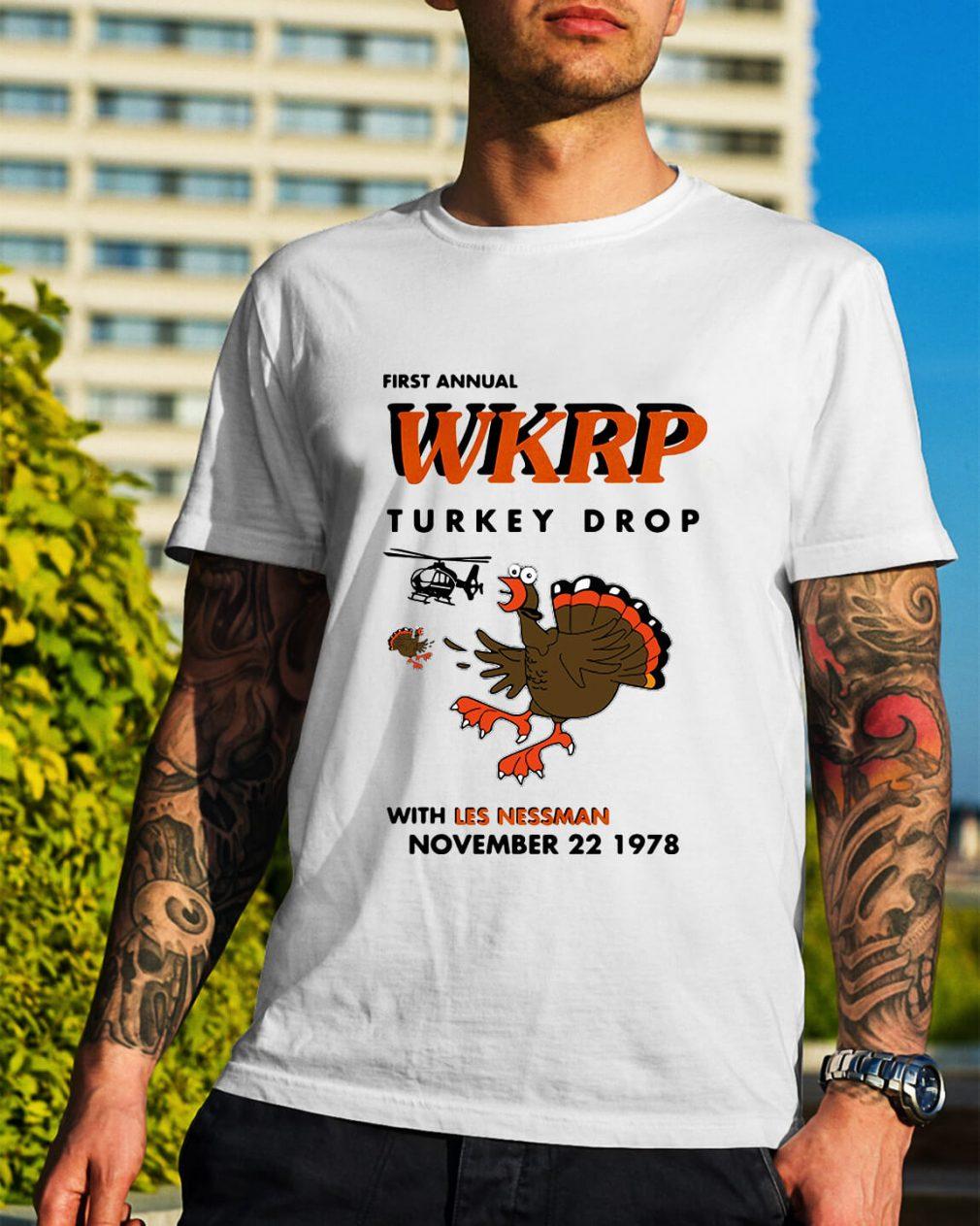 First annual WKRP turkey drop with Les Nessman November 22 1978 Guys Shirt