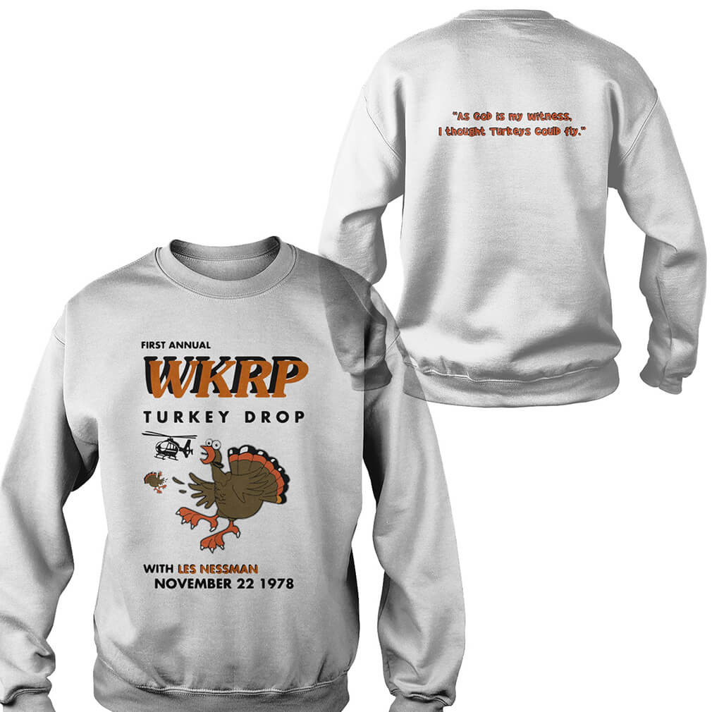 First annual WKRP turkey drop with Les Nessman November 22 1978 Sweater
