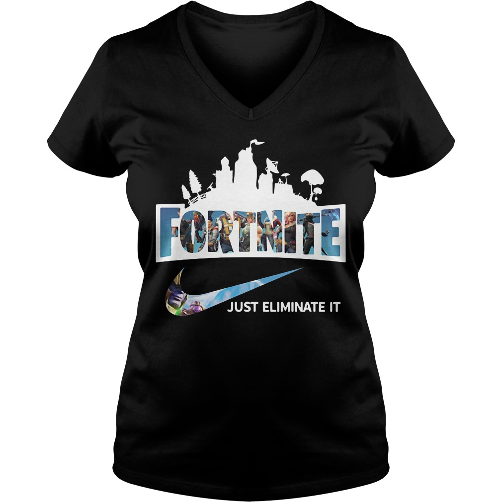 Fortnite just Eliminate it V-neck T-shirt