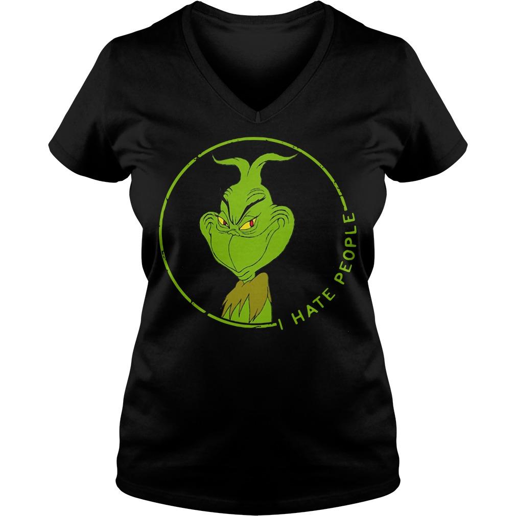 Grinch I hate people V-neck T-shirt