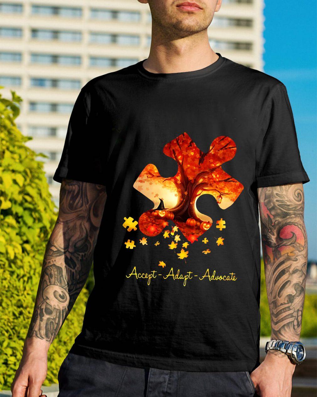 Halloween autism accept adapt advocate shirt