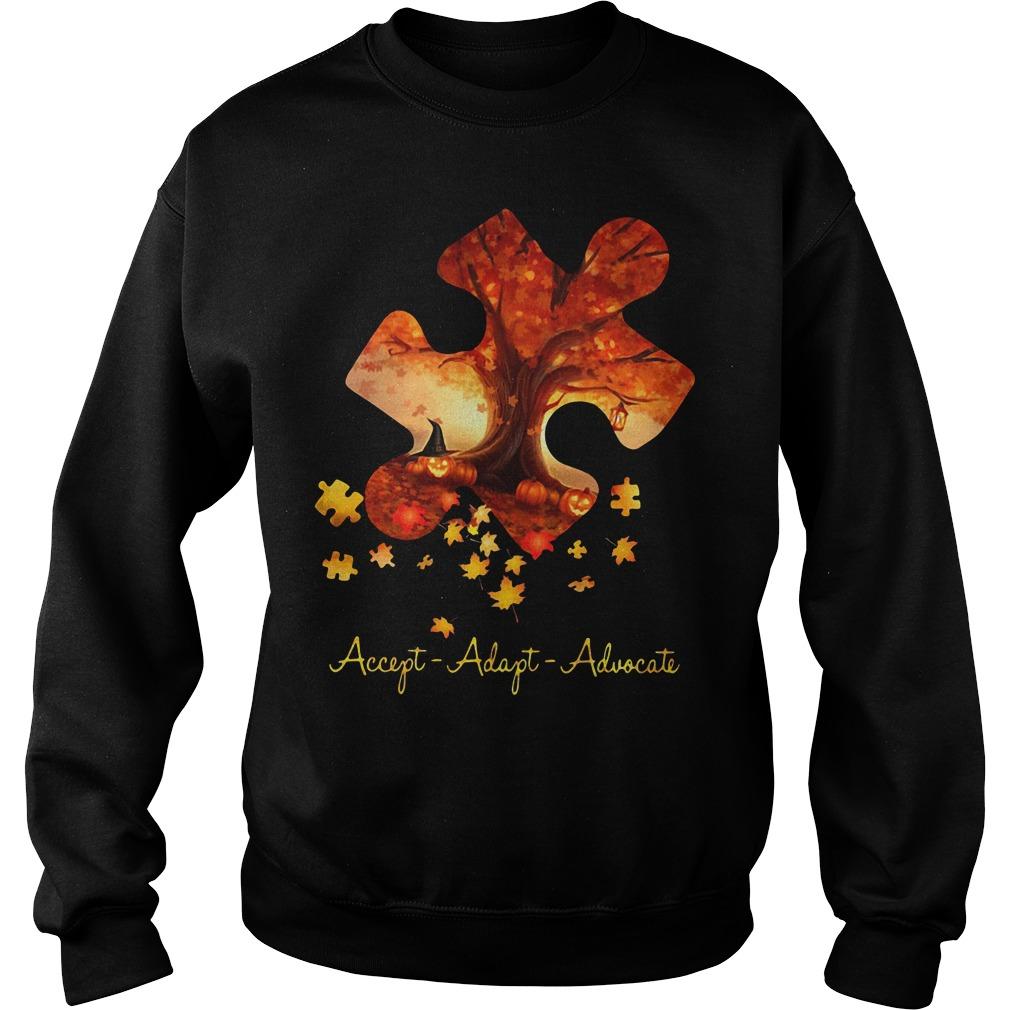 Halloween autism accept adapt advocate Sweater