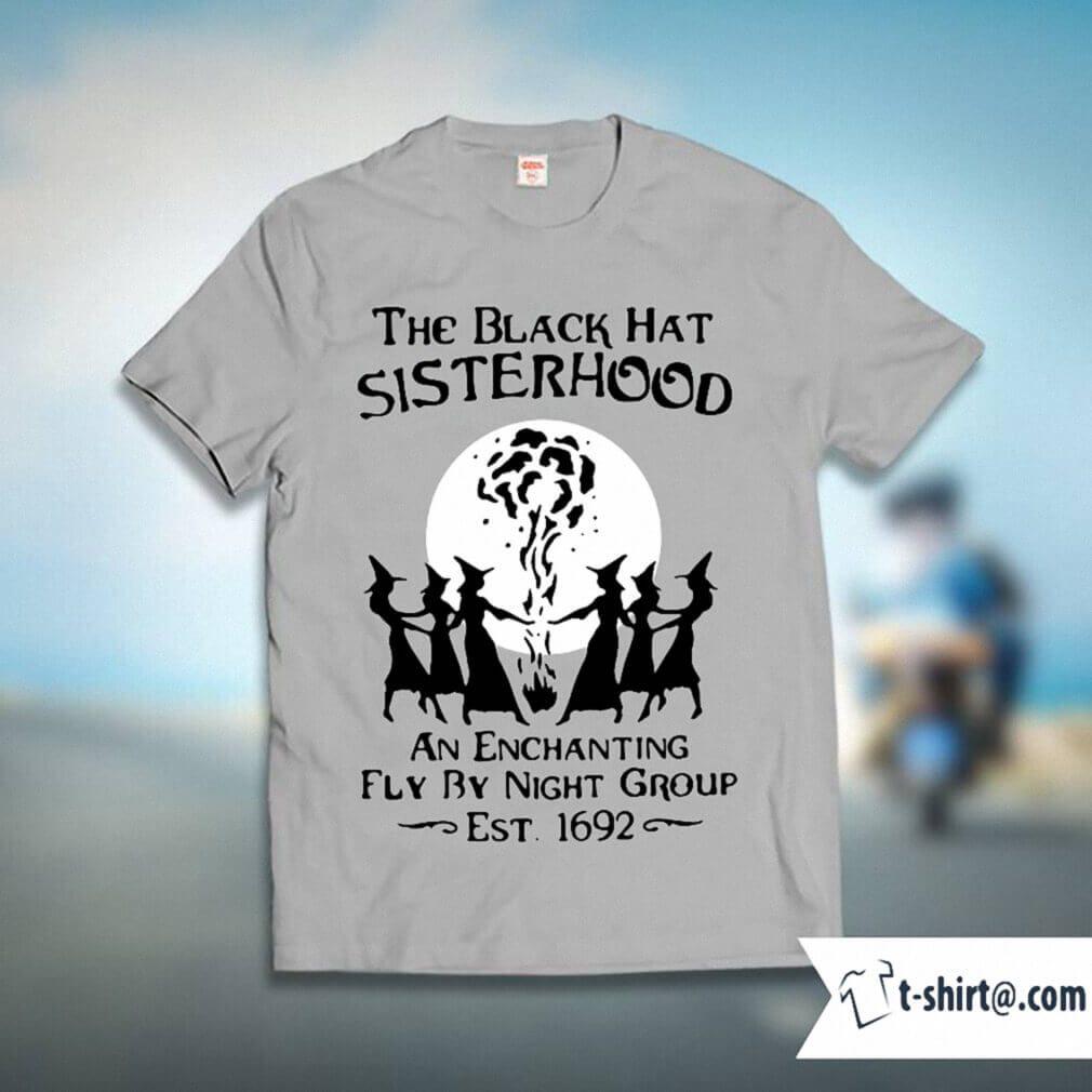 Halloween the black hat sisterhood an enchanting fly by night group shirt