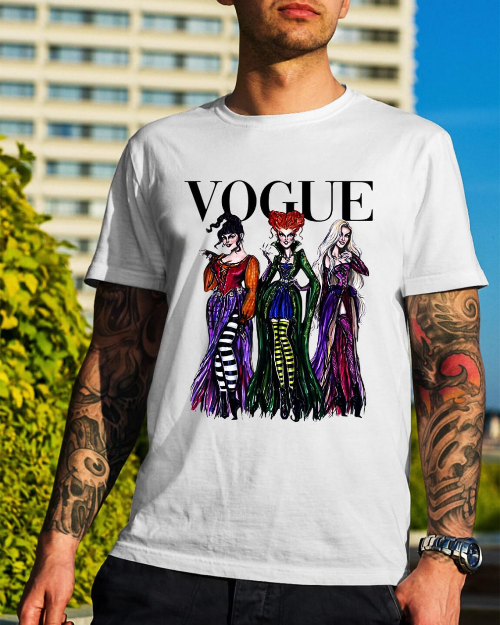 Halloween Hocus Pocus Vogue Guys Shirt