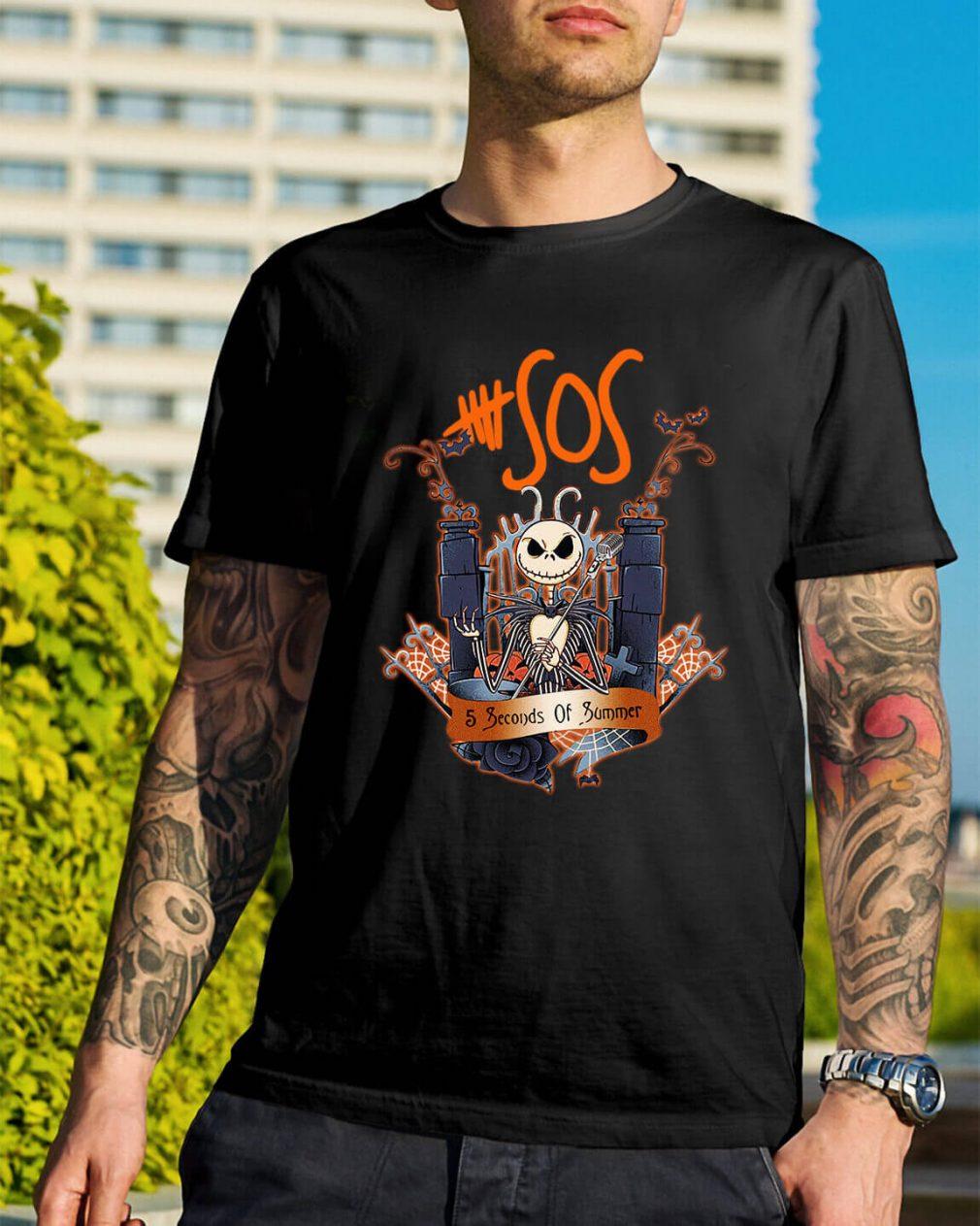 Halloween Jack Skellington 5 seconds of summer shirt