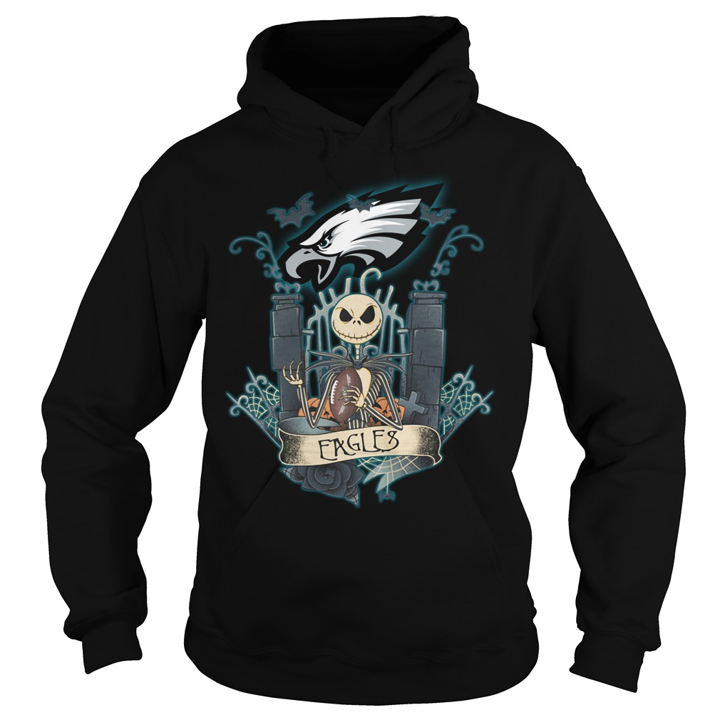 Halloween Jack Skellington Eagles Hoodie