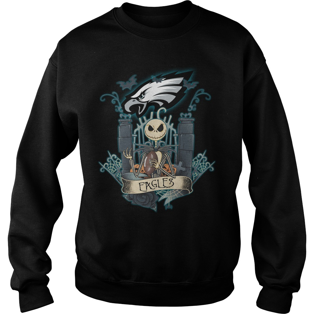 Halloween Jack Skellington Eagles Sweater