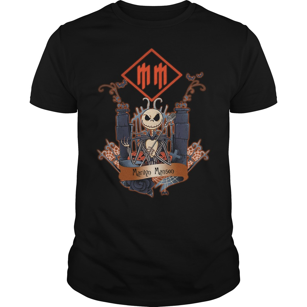 Halloween Jack Skellington Marilyn Manson Guys Shirt