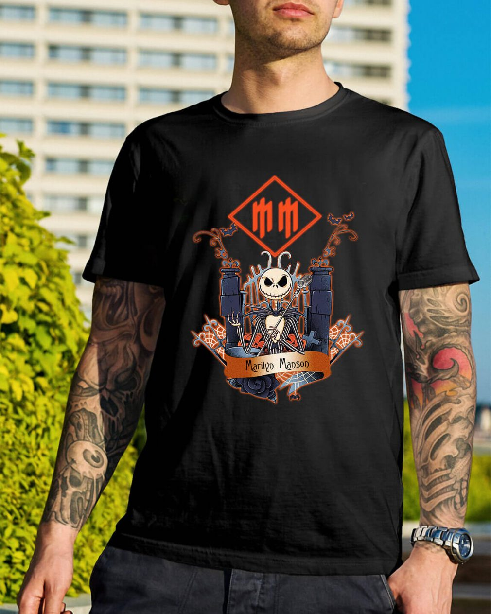Halloween Jack Skellington Marilyn Manson shirt