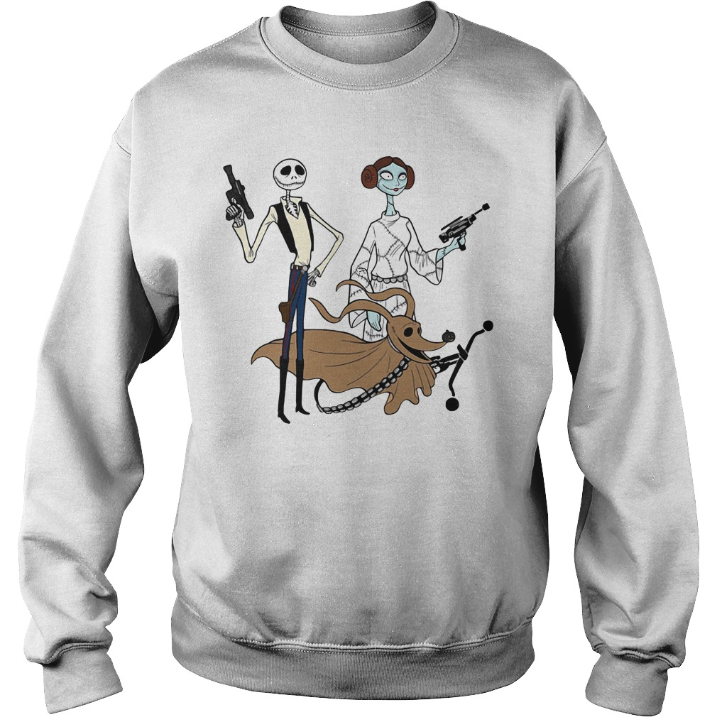 Halloween Jack Skellington Sally and Zero as Star Wars Sweater