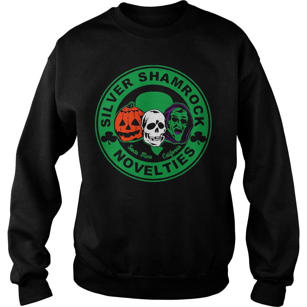 Halloween silver shamrock novelties Sweater
