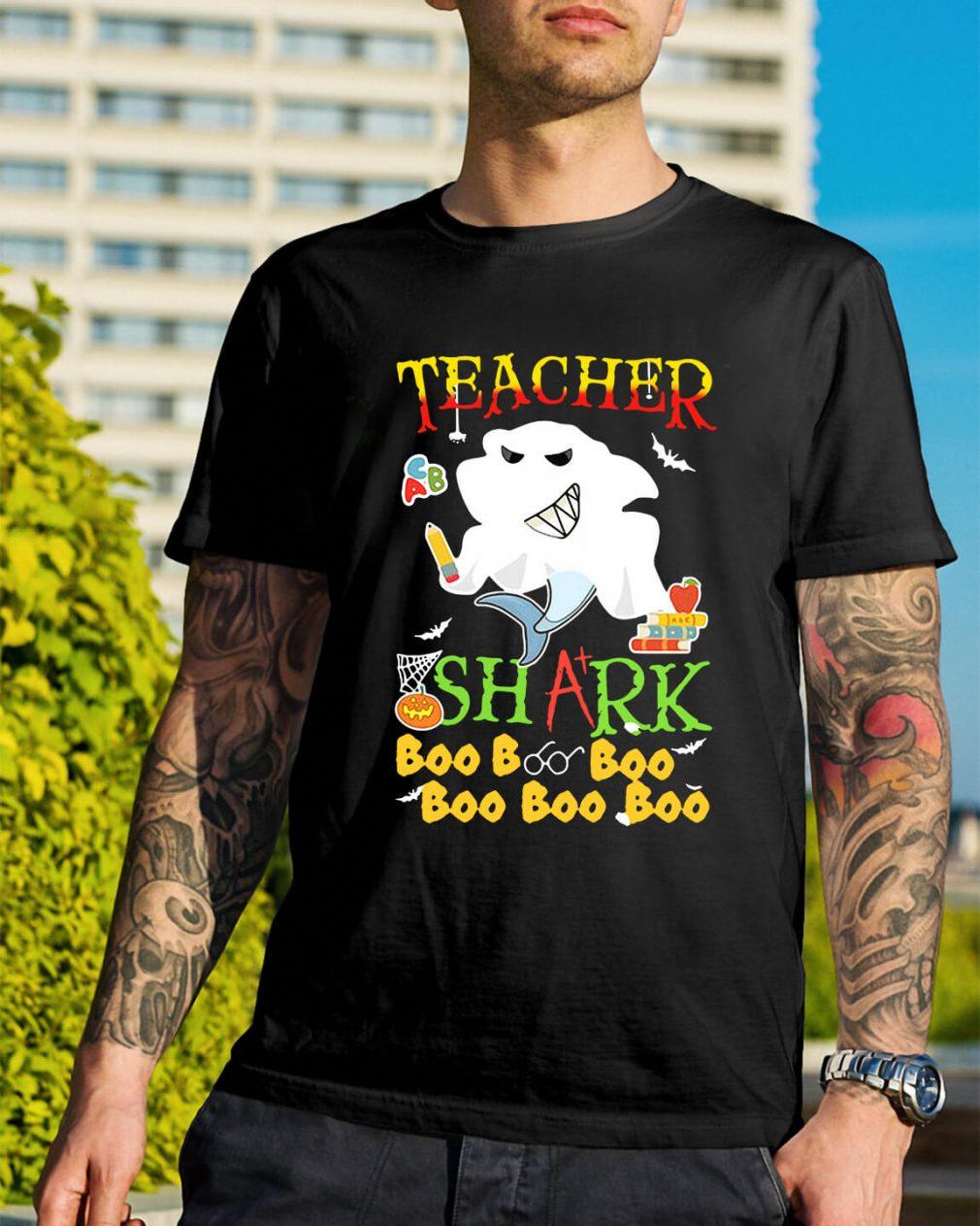 Halloween teacher shark boo boo boo boo boo boo shirt