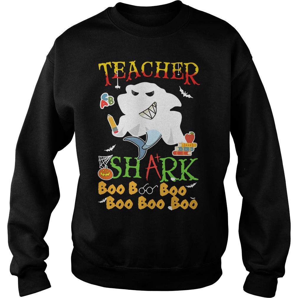 Halloween teacher shark boo boo boo boo boo boo Sweater